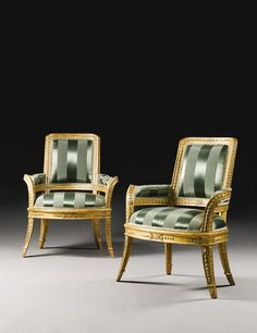 Italian carved giltwood seat furniture, Roman last quarter 18th century.