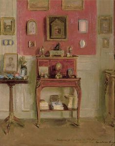 Paintings of Interiors by Walter Gay