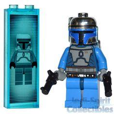 Star-Wars-Lego-Jango-Fett-Minifig-with-Blasters-Custom-Hologram-NEW