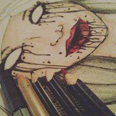 sonntage sind langweilig. #drawing #blackbook #aquarell #zeichnung #kunst #art #design #fabercastell #childrenofthevoid