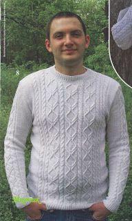 незатейливый: Мужской пуловер