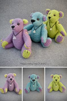 Bring a touch of Scotland to your home decor with these three little Celtic themed teddy bears. With their Celtic knot pendants, Padraig, Heather and Lachlan are hand knitted from 100% pure wool inspired by the beautiful colours of Scottish heather, thistles and lochs.#homedecor #Celticgifts #handmadegift #scottishdecor #handmadetoys Teddy Bear Gifts, Teddy Bears, Art Decor, Decor Ideas, Gift Ideas, Scottish Decor, Scottish Heather, Housewarming Gifts, White Gift Boxes