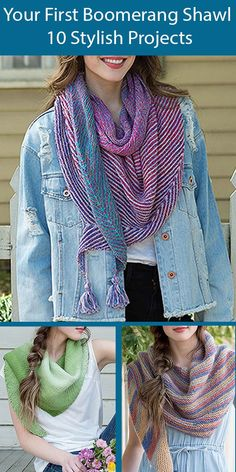 Make Your First Boomerang Shawl 10 Stylish Projects for True Beginners  Progressive Learning Techniques - Make Your First Boomerang Shawl 10 Stylish Projects for True Beginners. Marly Bird guides you through every step to create 10 beautiful shawls in garter stitch, stockinette stitch, seed stitch and simply lace patterns that Marly has designed them for true beginners. Available in ebook or paperback. Beginner Knitting Patterns, Knitting For Beginners, Bird Guides, Learning Techniques, Universal Yarn, Seed Stitch, Stockinette, Lace Patterns, Yarn Over
