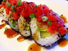 Making Sushi At Home: Tempura Shrimp & Spicy Tuna Rolls