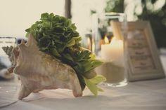 Beach Wedding in Kiotari Rhodes » GoldenApple, Weddings in Greece #shellflowers #tabledecoration