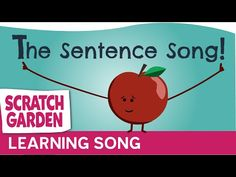 Scratch Garden creates fun educational videos for kids, educators, students, and anyone else who likes funny videos! Our videos are for teaching or learning,. 1st Grade Writing, Teaching Writing, Writing Activities, Teaching Ideas, Preschool Writing, Kindergarten Songs, Kindergarten Reading, Sentence Writing, Parts Of A Sentence