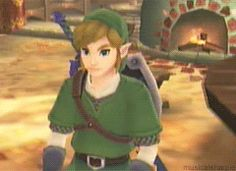Link is so derpy in Skyward Sword