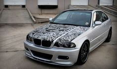Artist Travis Todd decorated his BMW using only two Sharpie paint markers and finished in just under 12 hours. Believe it or not, Todd did no planning or sketching before creating this masterpiece—he just went to work with the Sharpie. After the success of the car, he now carries a Sharpie on his keychain to create custom artwork on the fly.