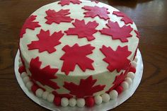 Canada Day cake.