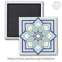 zazzleにマグネットもUPしましたhttp://bit.ly/2y1Z57h --- #zazzle #design #オリジナルグッズ #パターン #幾何学模様 #マグネット #丸型 #四角型 #プレゼント #geometric #originalgoods #present #circle #magnet #square #interior #home #tile --- 丸型もオーダーできますが角型がオススメですいっぱい並べて遊びたいです タイルやマグネットになると途端にこの色がお気に入りになりますやっぱりモロッカンに憧れているので紺というかブルーなのです是非ご覧ください