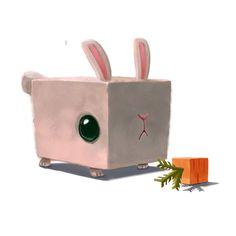 Cube Rabbit, Shu Yun Hei on ArtStation at https://artstation.com/artwork/studies-3ae42e9f-627a-486f-b3c3-77c8c602cc2c
