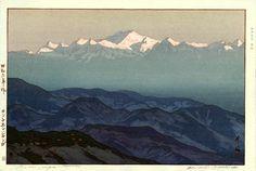 hanga gallery . . . torii gallery: Kanchenjanga, Morning by Hiroshi Yoshida, 1931