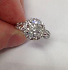 2.80CT Diamond Engagement Ring Split Shank Pave Halo by Pompeii3 £2,544.68