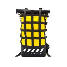 Rolltop backpack / Roll top backpack / Yellow backpack / Bike