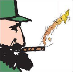 Fidel Castro by Seymour Chwast
