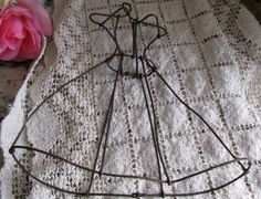 Rustic Rusty Metal Doll Dress Form Perfect For A Patio by Jjantiq
