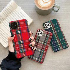 Retro Lattice Cloth iPhone Case