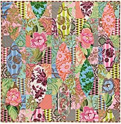 Amy Butler * charm quilt * pattern - SO cool and I can picture it on my bed!