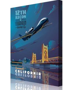 Share Squadron Posters for a 10% off coupon! Beale AFB – 12th RS RQ-4 Global Hawk #http://www.pinterest.com/squadronposters/