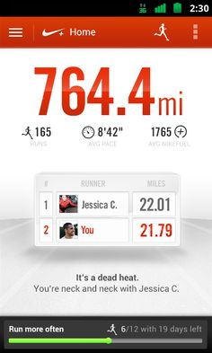 Nike+ Running - screenshot