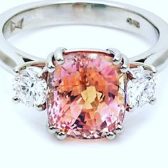 I have no idea where I found this. but I adore this padpardascha 💕💕💕 I cant wait to make this for someone . Cant Wait, Diamond Rings, Jewelry Stores, Jewelery, Sapphire, Diamonds, Engagement Rings, How To Make, Jewlery