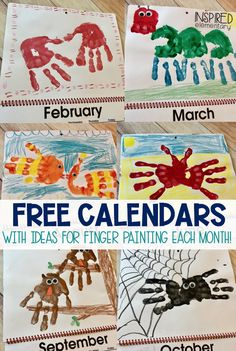 Free 2019 calendar gift for the holidays! Perfect gift for teachers to have their students make for their parents for Christmas. Ideas for handprint and finger paint crafts for kids are included in this freebie. Printable calendars for Calendar Ideas For Kids To Make, Crafts For Kids To Make, Christmas Crafts For Kids, Christmas Ideas, Xmas, Outdoor Christmas, Christmas Holiday, Holiday Gifts, Christmas Decor