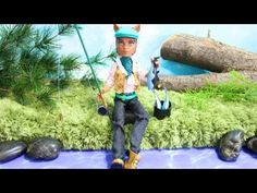 How to make a doll flyfishing rod - myfroggystuff - youtube video. (I've got enough male dolls for a fishing/camping weekend diorama!  kj)