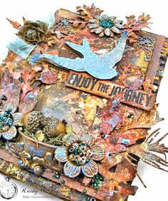 How to Mixed Media Last Leaf Canvas