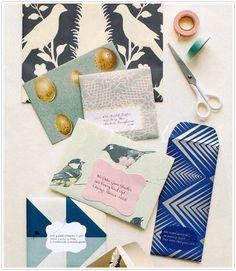 wrapping paper print printed envelope diy make your own martha stewart weddings