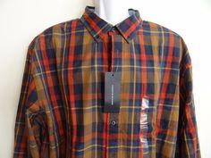 Tommy Hilfiger Mens 100% Cotton Custom Fit L/S Shirt Sz XXL SALE Free Shipping #TommyHilfiger #ButtonFront
