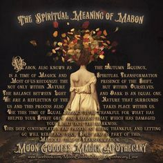 The Spiritual Meaning of Mabon – Witches Of The Craft® Mabon, Samhain, Wiccan Sabbats, Wicca Witchcraft, Pagan Witch, Paganism, Witches, Autumnal Equinox, Autumn Harvest