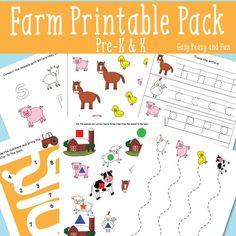 Farm Printable Pack for Preschool and Kindergarten