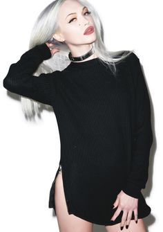 UNIF Waffle Zip Sweater | Dolls Kill