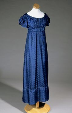 "REGENCY: ""I'm just going to write because I cannot help it."" ~ Charlotte Brontë (1824 dress)"