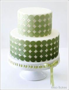 Green ombre cake...you've no idea how much time and effort a cake like this takes.