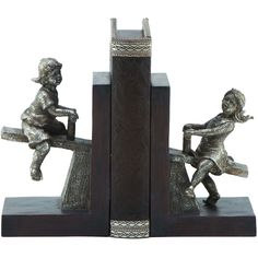 2 Piece Seesaw Bookend Set