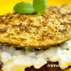 Egg Recipes, Diet Recipes, Vegetarian Recipes, Cooking Recipes, Greek Recipes, Health Snacks, Galette, Easy Healthy Recipes, Food Videos