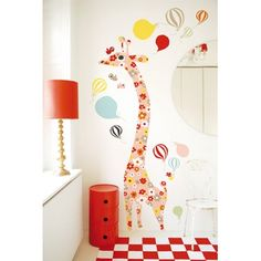 Giraffe Height Chart Wall Sticker by Little Baby Company, the perfect gift for Explore more unique gifts in our curated marketplace. Wall Stickers Giraffe, Flower Wall Stickers, Eco Furniture, Wall Decor Design, Height Chart, Decorate Your Room, Room Inspiration, Nurseries, Giraffes