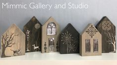Some more ideas using our Happy Home Creative Pewter Kits. Pewter Art, Pewter Metal, Metal Tape, Art Houses, Metal Embossing, Foil Art, Rustic Art, Miniature Houses, Sheet Metal