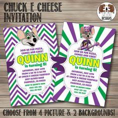 Chuck E Cheese Birthday Invitation Printable by BigDawgDesigns