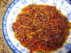 XO Sauce - dried scallops, dried shrimp, shallots, chilies - superb on rice or with dim sum!