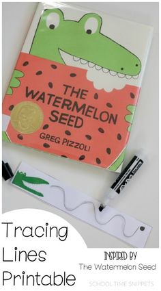 School Time Snippets: Fun pre-writing printable for children's storybook, The Watermelon Seed! Pinned by SOS Inc. Resources. Follow all our boards at pinterest.com/sostherapy/ for therapy resources.