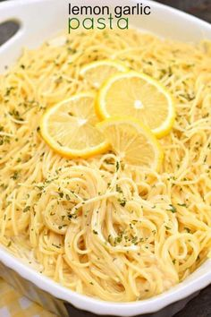 You'll love this tangy, Lemon Garlic Pasta as a side dish with your favorite chi. - You'll love this tangy, Lemon Garlic Pasta as a side dish with your favorite chi. You'll love this tangy, Lemon Garlic Pasta as a side dish with you. Pasta Dinner Recipes, Easy Pasta Recipes, Easy Meals, Easy Pasta Dishes, Angel Hair Pasta Recipes, Easy Pasta Sauce, Lemon Recipes Dinner, Pasta Sauce Recipes, Linguine Recipes