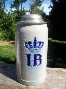 VINTAGE HB - Hofbrauhaus Oktoberfest German Beer Stein Mug Germany Made