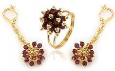 "Zlatá exkluzívna súprava NEONERO,,gold berries"""