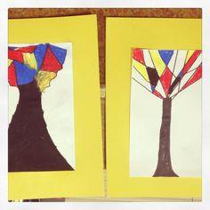 Primary Colors Mondrian Trees After School Class With Artree Artreekids Fun Art ProjectsArt