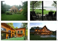 Part of the charm of a log home is the location, the design and the landscaping. We love what these Timber Block home owners have done with their landscaping! www.timberblock.com