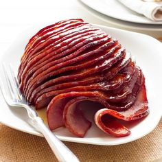 How to Cook Honey-Glazed Ham in the Slow-Cooker. I would substitute pineapple juice for the water.