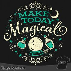 Make Today Magical Home Fine Art Print by Casper Spell's Shop Pentacle, Spiritus, Witch Art, Witch Decor, Witch Aesthetic, Halloween Art, Creations, Artsy, Art Prints