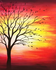 Join us for a Paint Nite event Tue Nov 2017 at 700 Hempstead Tpke Franklin Square, NY. Purchase your tickets online to reserve a fun night out! Oil Pastel Art, Oil Pastel Drawings, Art Drawings, Easy Canvas Art, Easy Canvas Painting, Mini Canvas, Watercolor Art Paintings, Desenho Tattoo, Tree Art